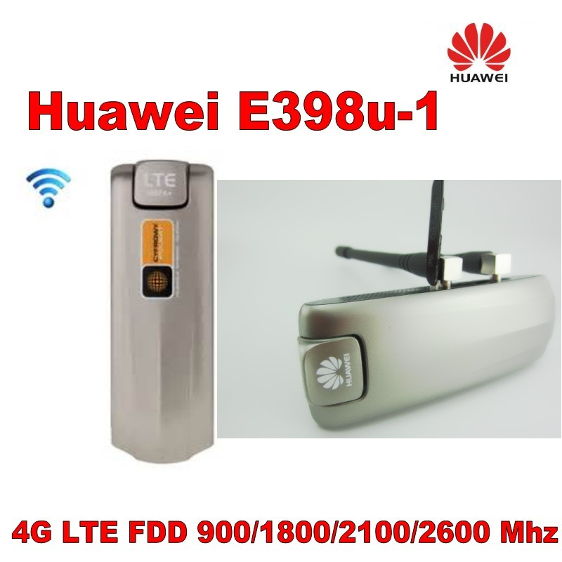 HUAWEI E398u-1 Modem 4G LTE E398 100Mbps mobiler Dongle plus 2pcs 4g Antenne