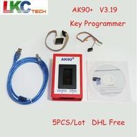 5pcs Lot DHL Free AK90 Key Programmer V3 19 Auto Car Key Maker For B M