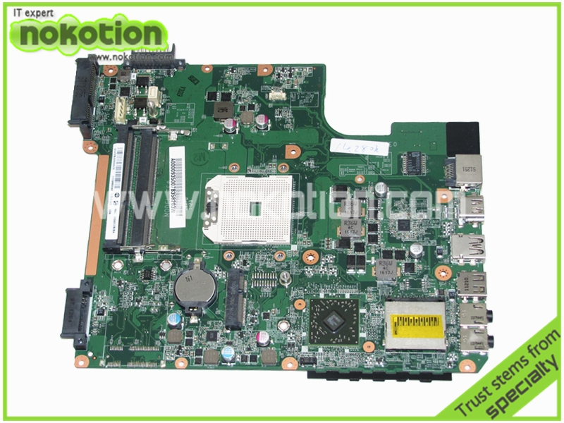 NOKOTION A000093500 DA0TE8MB6E0 Laptop Motherboard For Toshiba Satellite L745D L745 maniboard full tested nokotion v000185020 for toshiba satellite l505 laptop motherboard gm45 ddr2 6050a2250301 mb a03