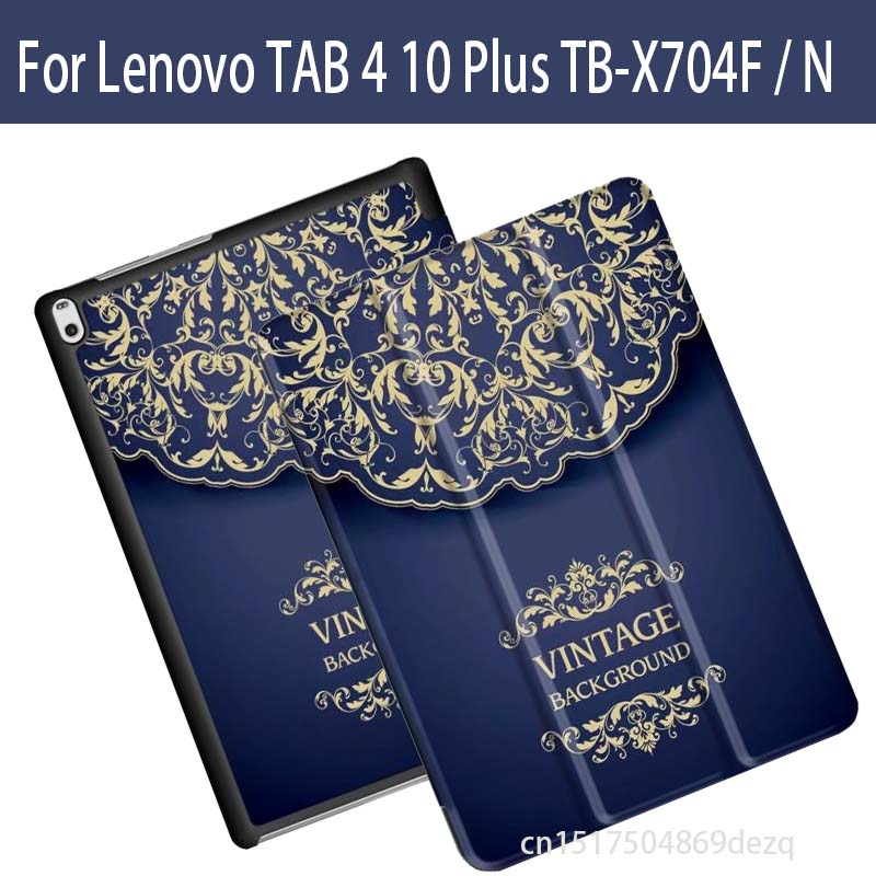 printing Leather Case For Lenovo TAB 4 10 Plus TB X704N TB X704F fashion Folio Stand