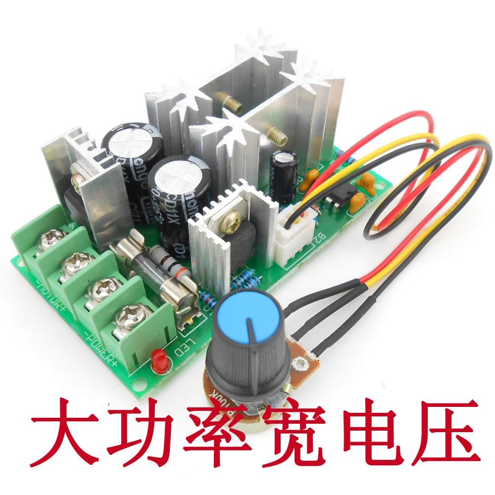 DC motor speed regulator 12V24V36V48V power driver module PWM controller 20A current regulator  dc 12v 24v 36v 2 way pwm motor driver board module 450w high power controller