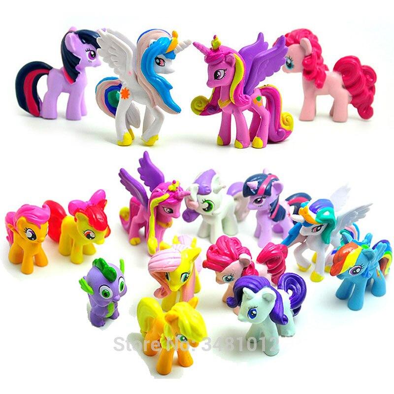 Princess Figures Celestia Horses Pet-Shop My-Little-Pony 12pcs Toy Ponei Kucyk