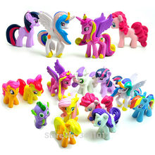 12pcs my little pony Unicorn figure princess pet shop toy Horses Princess Figures Celestia ponei Figurines kucyk(China)