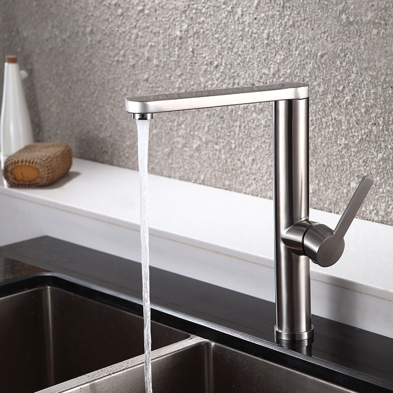 MTTUZK High-quality 304 stainless steel Brushed kitchen faucet 360 degree rotary basin faucet,hot and cold water tap craneMTTUZK High-quality 304 stainless steel Brushed kitchen faucet 360 degree rotary basin faucet,hot and cold water tap crane