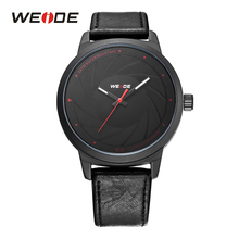 WEIDE Men Sport Quartz Analog Brand Watch Black PU Leather Strap Band Military Army Model Clock Wristwatches relogios masculino weide men sport watches big dial alam date day back light quartz led display military watch strap analog hardlex wristwatches