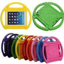 все цены на  Portable Kids steering wheel for Apple iPad mini 1/2/3 EVA drop resistance Washable stand holder hand-held protective case+gifts  онлайн