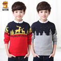 2016 Children's clothing male child sweater spring and autumn child pullover o-neck sweater 100% cotton top