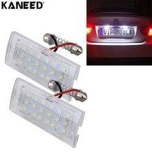 For BMW E53 X5 License Plate Light Rear Lamp 2W 6000K 120LM 18pcs SMD-3528 LED License Plate Light Lamp for BMW X3 E83 BJ 03-10