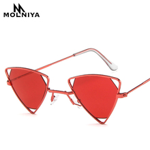 Fashion Classic Men Triangle Small Hollow Frame Sunglasses Women Retro Punk Metal Sun Glasses Eyewear UV400