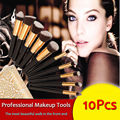 Pincéis de maquiagem 10 Pcs Superior Macio Professional Cosméticos Make Up Brush Set Pincéis Kabuki Pincéis de Maquiagem kit de Maquiagem da Mulher