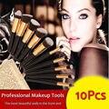 Pinceles de maquillaje 10 Unids Superior Profesional Soft Cosméticos Maquillaje Cepillo Conjunto kit de Cepillos de Kabuki Pinceles de Maquillaje de la Mujer Maquiagem