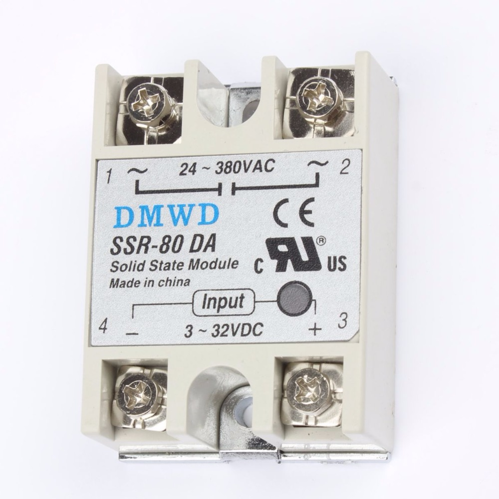 TOP BRAND DMWD 1pcs Free shipping solid state relay SSR-80DA 80A DC TO AC SSR 80DA relay solid state 3-32 DC TO 24-380V AC