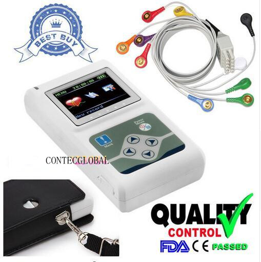 Contec TLC5000 Holter Monitoraggio Recorder Sistema tenuto in Mano FDA del CE Certificata
