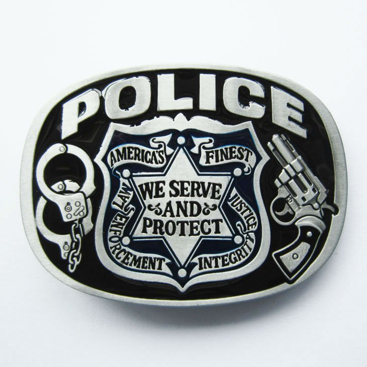 Wholesale Retail Belt Buckle Police Symbol Sign Factory Direct Fast