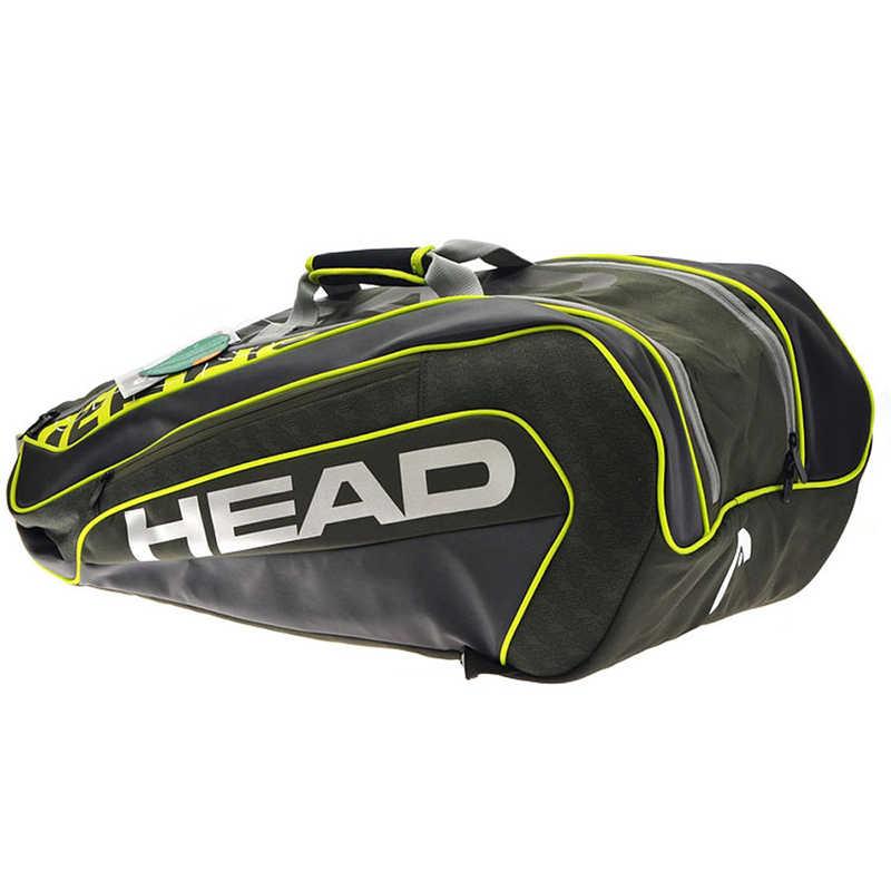 رئيس التنس حقيبة Djokovic الأصلي مضرب تنس حقيبة مزدوجة حقيبة كتف يمكن أن تعقد 9 مضارب التنس سعة كبيرة التنس على ظهره