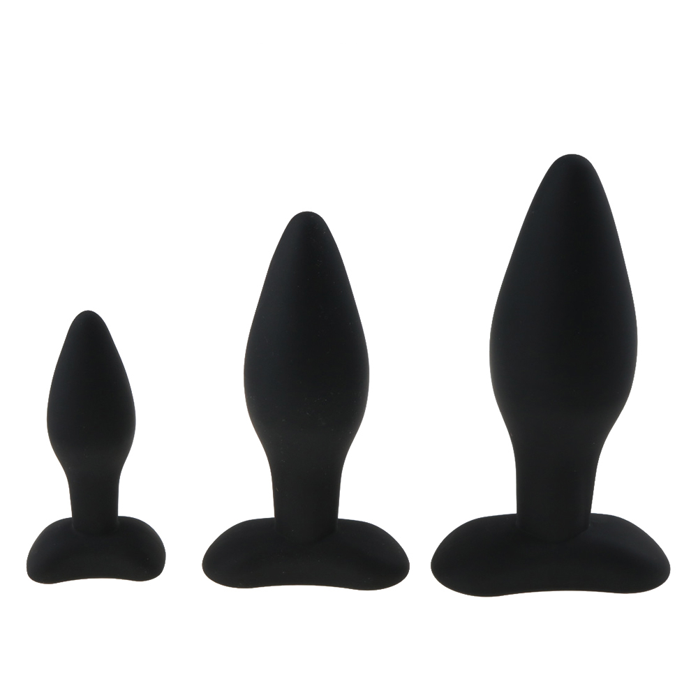 3 Size Anal Plug Silicone Butt Plug Large Huge Anal Bead Sex Toys for Women Anal Plug Unisex Erotic Toys Sex Products for Men diameter 7cm huge anal plug mushroom head anal sex toys butt plug 3 color choose anal plug adult sex toys for men gay sex toys
