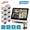 ANRAN Plug And Play 4CH 1080P 12 Inch LCD Monitor POE NVR Kit Home Security System