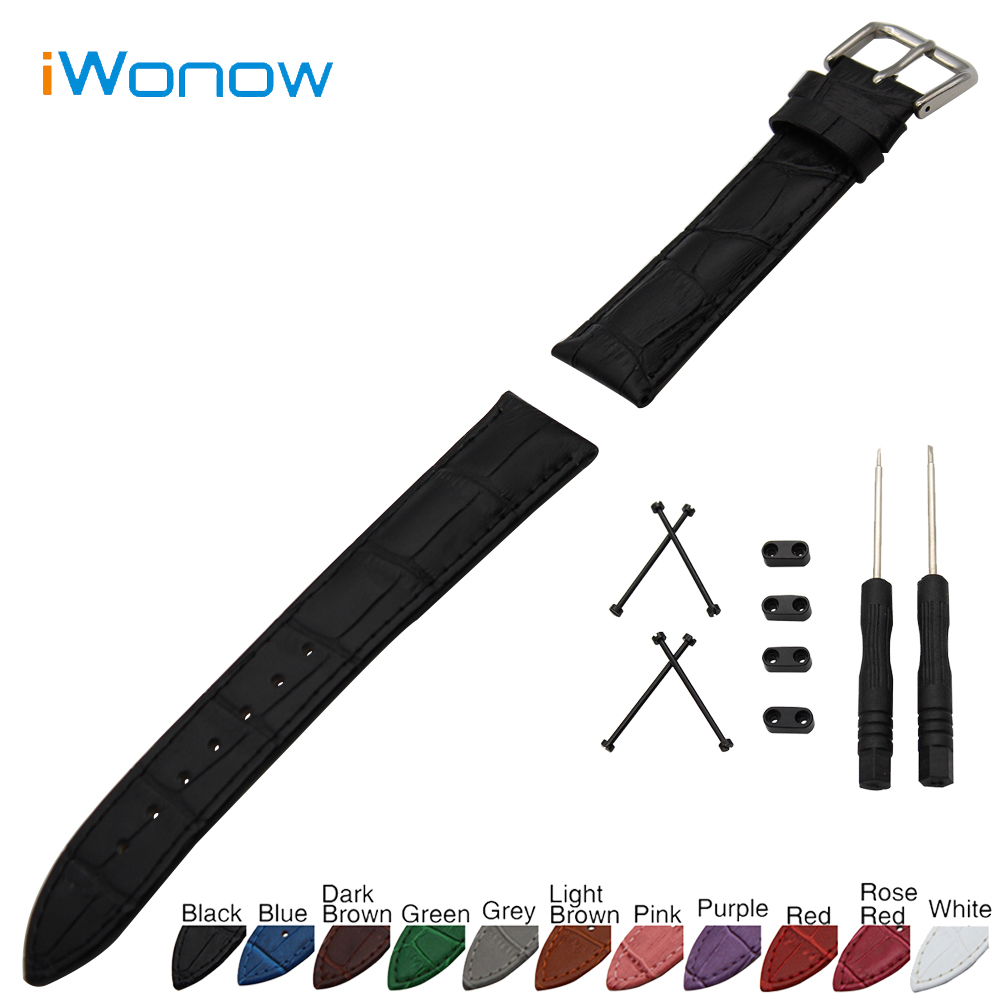 Croco Genuine Leather Watch Band 24mm for Suunto Core Stainless Steel Buckle Strap Wrist Belt Bracelet + Lug Adapter + Tool 24mm nylon watchband for suunto traverse watch band zulu strap fabric wrist belt bracelet black blue brown tool spring bars