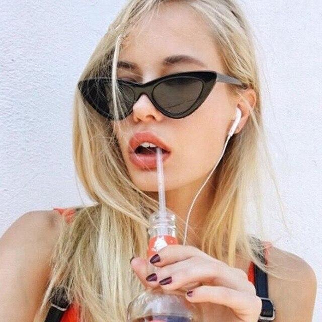 0ff9f99e62e Fashion Vintage Cat Eye Sunglasses Women Brand Designer 2019 Classic Summer  Style Lady Sunglass Mirror Sun Glasses Female UV400