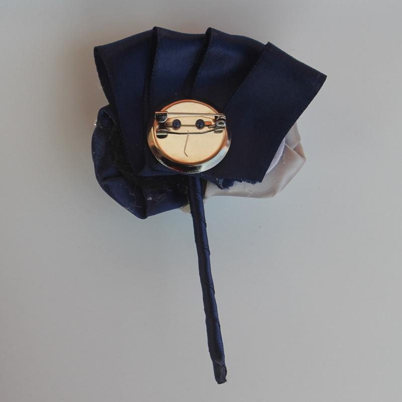 WifeLai-A Navy Көк күміс букет Корсоза - Үйлену керек-жарақтары - фото 4