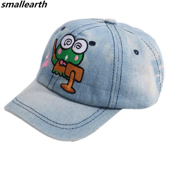 a1f12f865 US $4.58 15% OFF 2018 Children Cotton Baseball Caps Cartoon Design Boys  Girls Snapback Caps Adjustable Baby kid Sun Beach Hats Flat Hip Hop Caps-in  ...