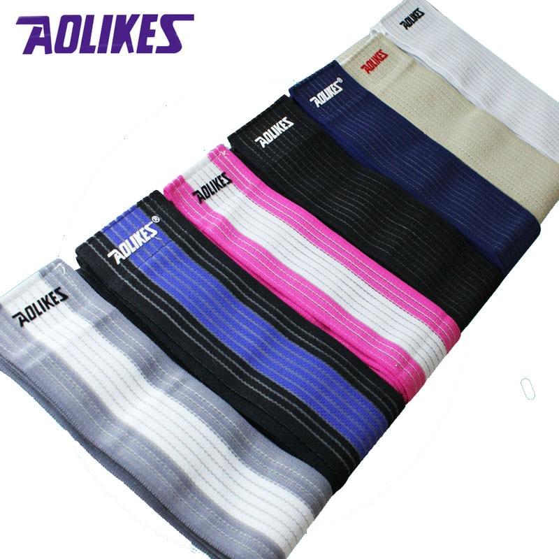 AOLIKES 1 Par 120 * 7.5 cm Fitness Vendas Elásticas Banda de - Ropa deportiva y accesorios - foto 3