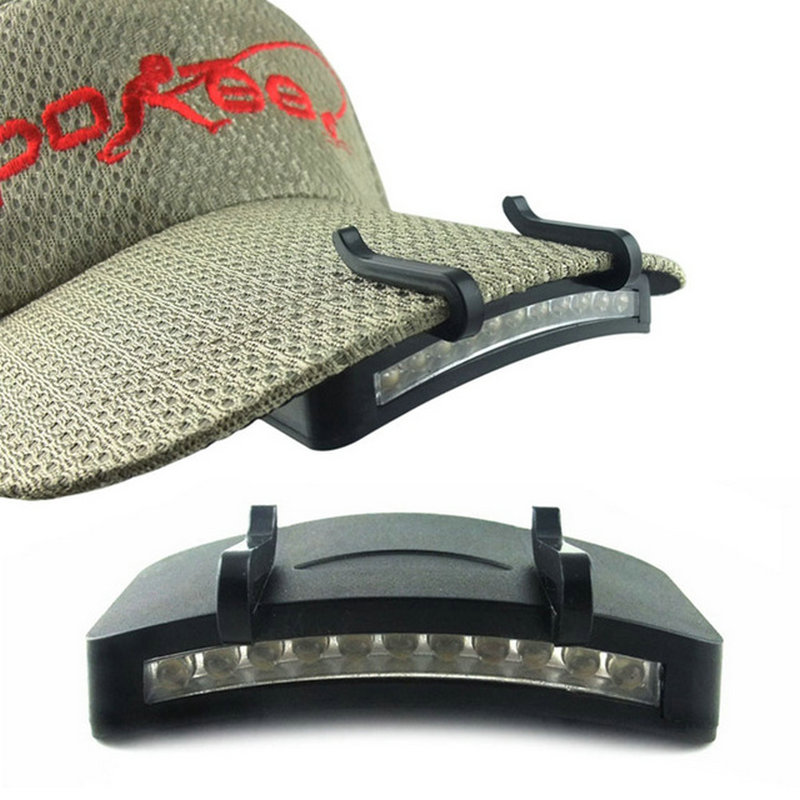 ArtPad Outdoor Lighting 11 LED Baseball Cap Flashlight Camping Hiking Cycling Night Fishing Caplight Clip on LED Light for Hat