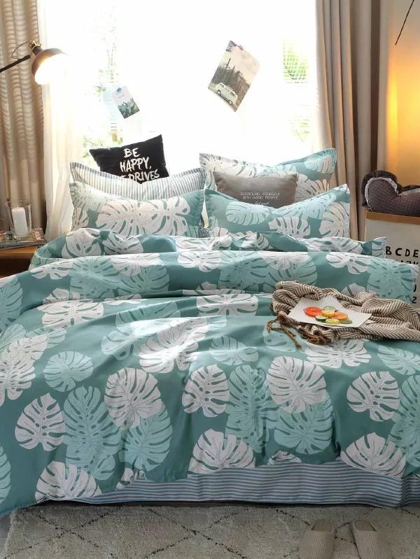 Bedlinen Nordic bedclothes bedcover Rainforest Palm Leaf Duvet Cover Pillowcase King Bedding set Bed Set Bedlinen Nordic bedclothes bedcover Rainforest Palm Leaf Duvet Cover Pillowcase King Bedding set Bed Set