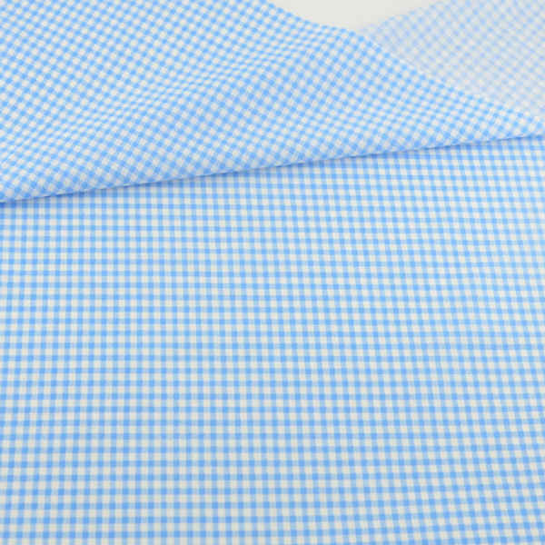100% Cotton Fabric Blue and White Check Style Patchwork Geometric Decoration Tissue Teramila Fabric Tecido Quilting Home Textile