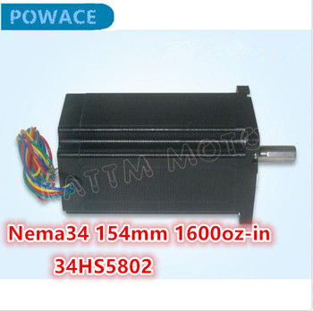Nema34 154mm 1600 Oz-in 5.0A CNC Stepper Motor Mill Stepping Motor for 3D Printer