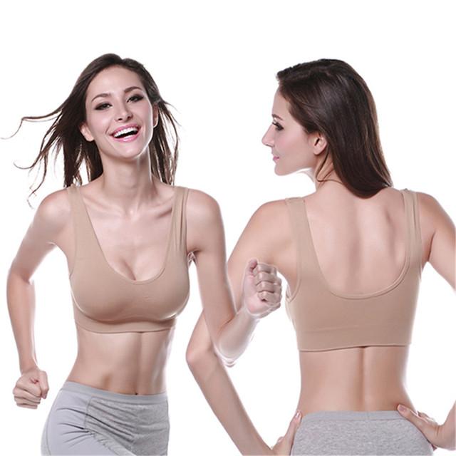 Women Bust Bra Push Up Seamless Cotton Tops