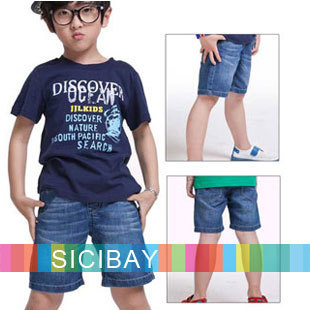 Kids Denim Blue Trousers Big Boy Summer Clothes New Arrival Boys Fashion Shorts Hot Sale  K1174