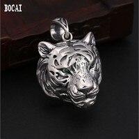 100% true 925 solid silver personality domineering men's pendant fashion jewelry Thai silver hollow tiger head pendant