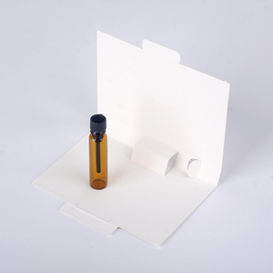 Image 5 - 100 ピース/ロット 1 ミリリットル 2 ミリリットルの香水瓶紙カード包装詰め替え香水瓶スポイトボトルブラウン香り試験管ボトル