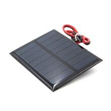 4 в 150 мА с 30 см удлинительным кабелем солнечная панель поликристаллического кремния DIY зарядное устройство Модуль Мини Солнечная батарея провод игрушка