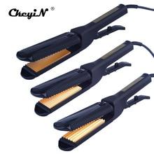 Sale CkeyiN 3 in 1 Electric Hair Straightener Crimper Corrugated Curl Hair Plate Titanium Flat Iron Curling Corn Hair Wave Corrugated