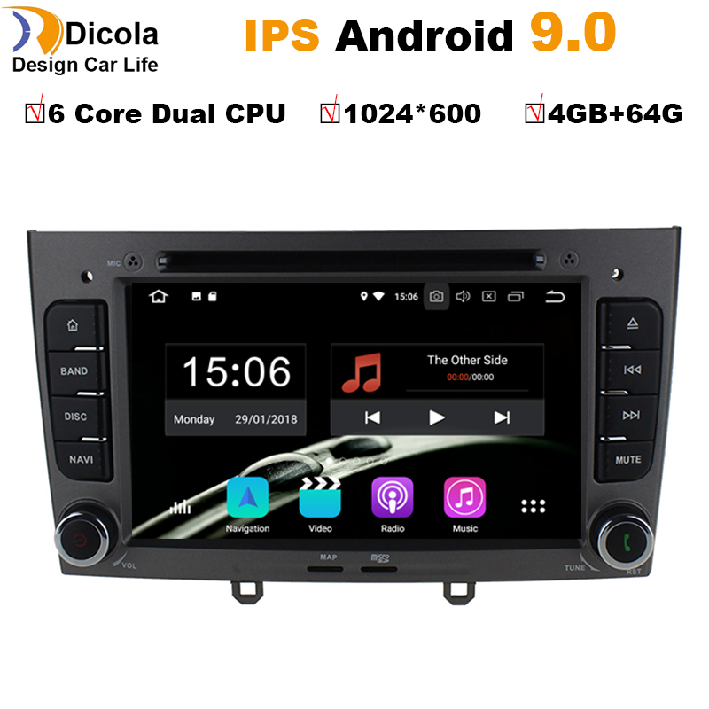 6 Core Dual CPU 4+64G Android 9.0 Car DVD Player GPS Navi for Peugeot 408 for Peugeot 308 308SW Audio Radio Stereo Head Unit-in Car CD Player from Automobiles & Motorcycles