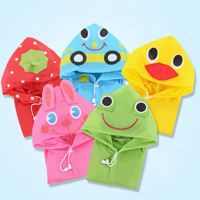 Cute Little duck raincoat for kids Childr fun cloak Little yellow duck frog strawberry car rabbit clothes for kids