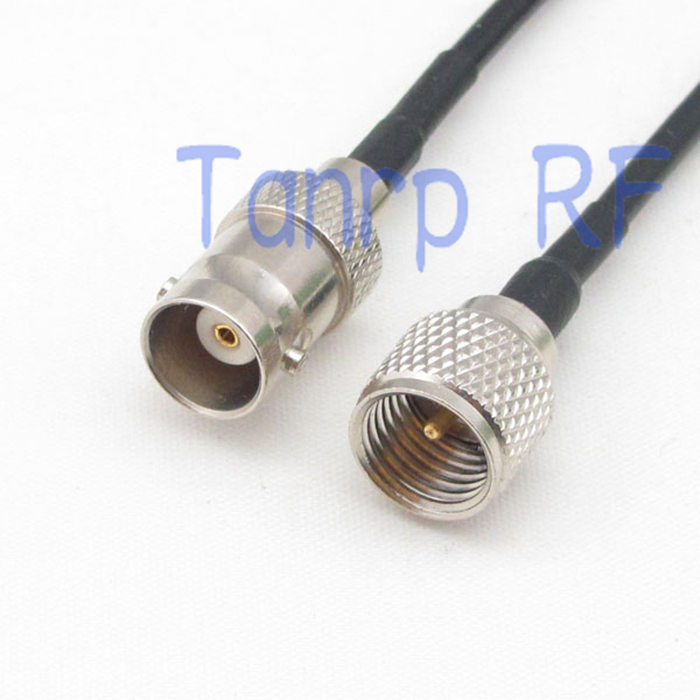 6in mini UHF PL259 male plug to BNC female jack RF connector adapter 15CM Pigtail coaxial jumper cable RG174 extension cord