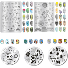 3size zjoys,ZJOY-Plus,zjoy Nail Stamping Plates DIY Geometry,Butterfly,Lace Flower Design Image 1pc Art Plate Manicure Tool