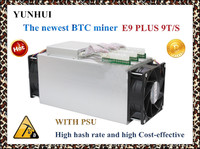 Newest 14nm Asic Miner BTC Miner Ebit E9 Plus 9T With Psu Better Than Antminer S7