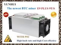 Mới nhất 14nm Asic Miner BTC Miner SỬ DỤNG Ebit E9 Cộng Với 9 T (với psu) giá thấp hơn S9 tốt nền kinh tế thợ mỏ.