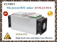 Mais novo 14nm Asic Mineiro BTC Mineiro Ebit E9 Mais 9 T (com fonte de alimentação) melhor do que o mineiro Antminer S7 e preço baixo do que o S9 boa economia.