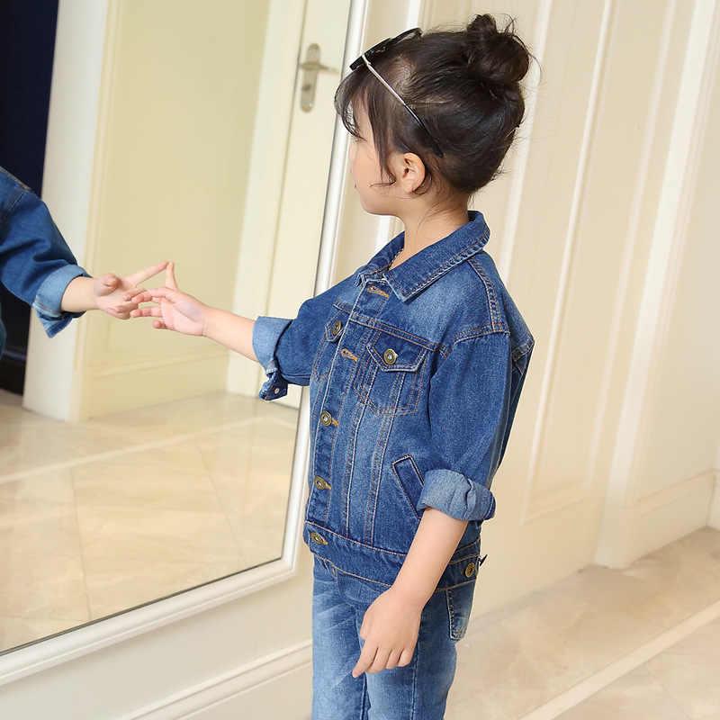 Girls Denim Jackets 2018 Fashion Children Jeans Jacket Spring Autumn Girls Denim Outerwear Kids Jacket Coat DQ562