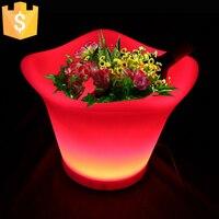 LED Lights Wedding Decor Garden Party Planter Pot Light Up Christmas Decoration Glowing Flower Pots 2pcs