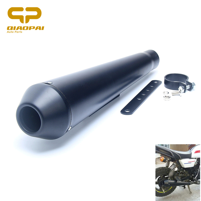 US $30 18 29% OFF|Motorcycle Pipe Exhaust Muffler 45MM Modified Vintage  Straight Pipe Motorbike Exhaust For Retro Honda CG/EN125 Harley XL 883-in