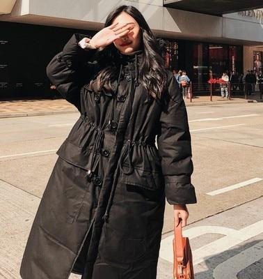 gris Automne Longue noir Avec Beige Manteaux Long Vêtements Coton vent Capuche Doudounes Coupe Femmes De Lâche Sustans Épaissir Hiver Décontractés Chaud RqrS8R