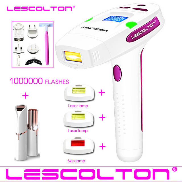 Original LCD Display lescolton 4in1 1000000times IPL Epilator Laser Hair Removal Machine Hair removal For Boay Bikini Face