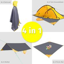 GeerTop Ultralight Waterproof Tent Tarp Sun Shelter Picnic Beach Mat Camping Footprint Raincoat for Hiking Backpacking Tourist