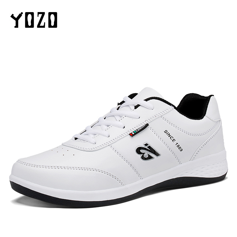 Sneakers Men Casual Shoes PU Leather Shoes Men Sneakers Trainers White Footwear 2017 Sapato Masculino Chaussure Homme